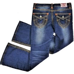 True Religion Joey Jeans Flap Pockets Dark Wash